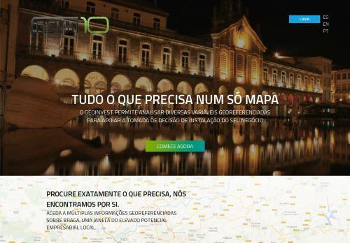 INVESTBraga Geoportal empresarial