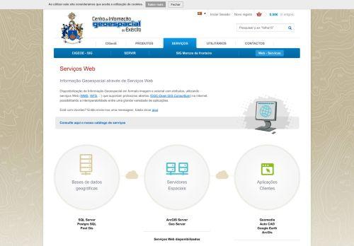 IGeoE Web Services, serviços WMS e WFS