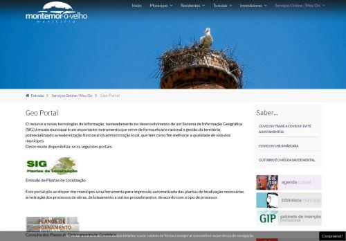 CM Montemor-o-Velho: Geoportal