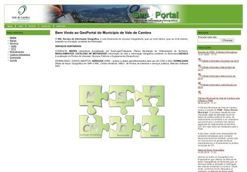 CM Vale de Cambra: Geoportal