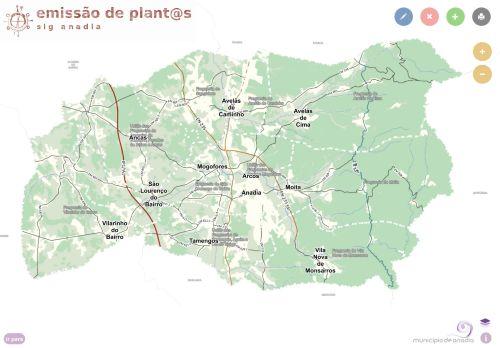 CM Anadia: Emissão de plantas