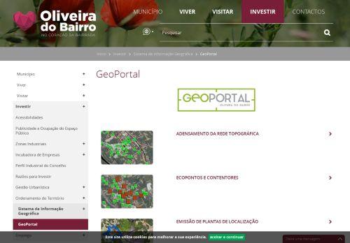 CM Oliveira do Bairro: Geoportal